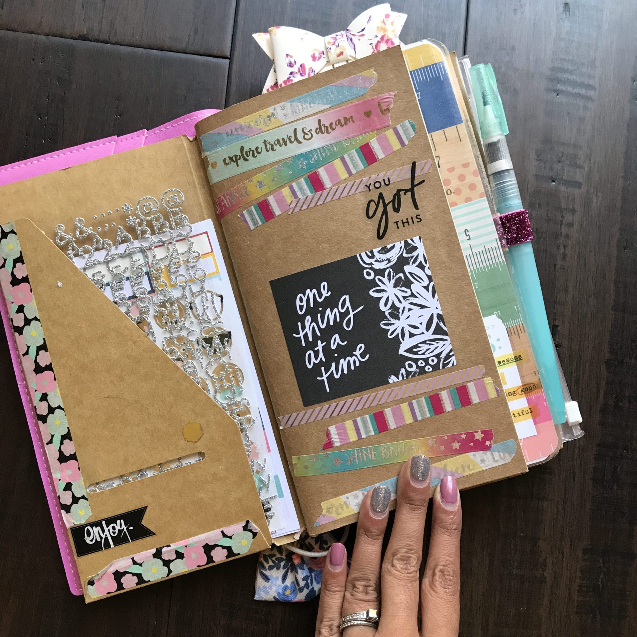 My Traveler's Notebook Journaling Setup
