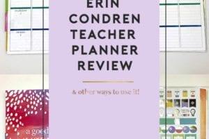2018 Erin Condren Teacher Planner Review