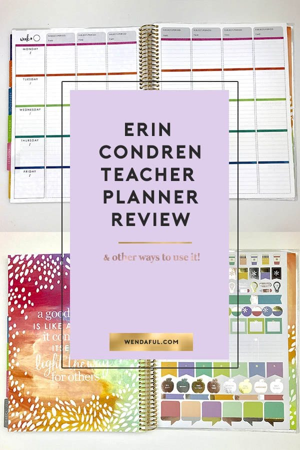 2018 Erin Condren Teacher Planner Review