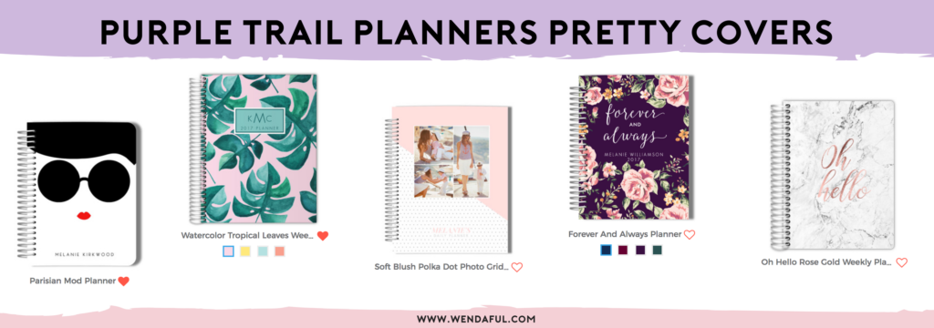 purple trail planners covers
