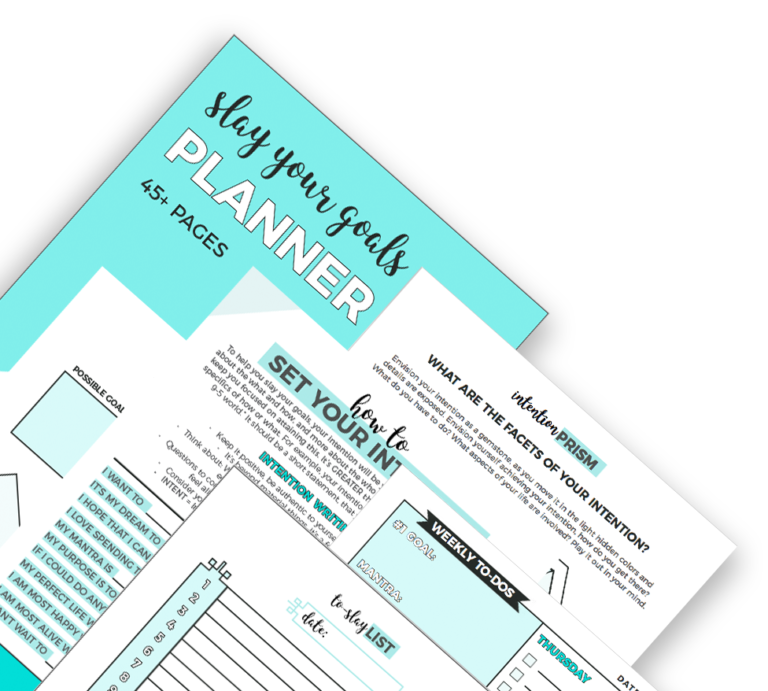 Get The Slay Your Goals Planner!