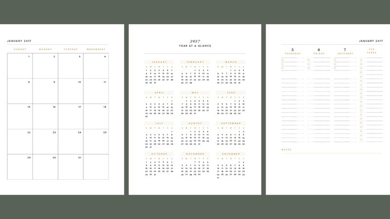 automating calendars indesign planner insert course