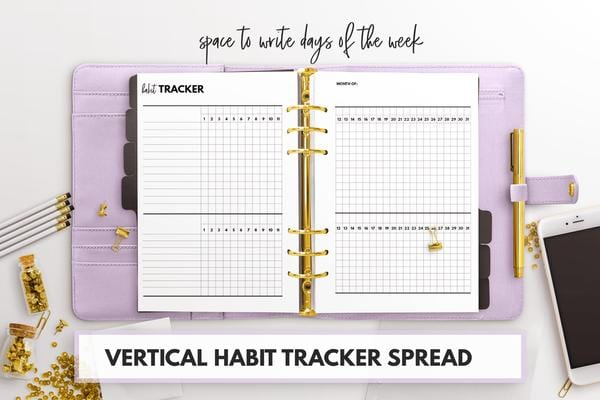 Friday Freebie Habit Trackers For Planners Wendaful Planning