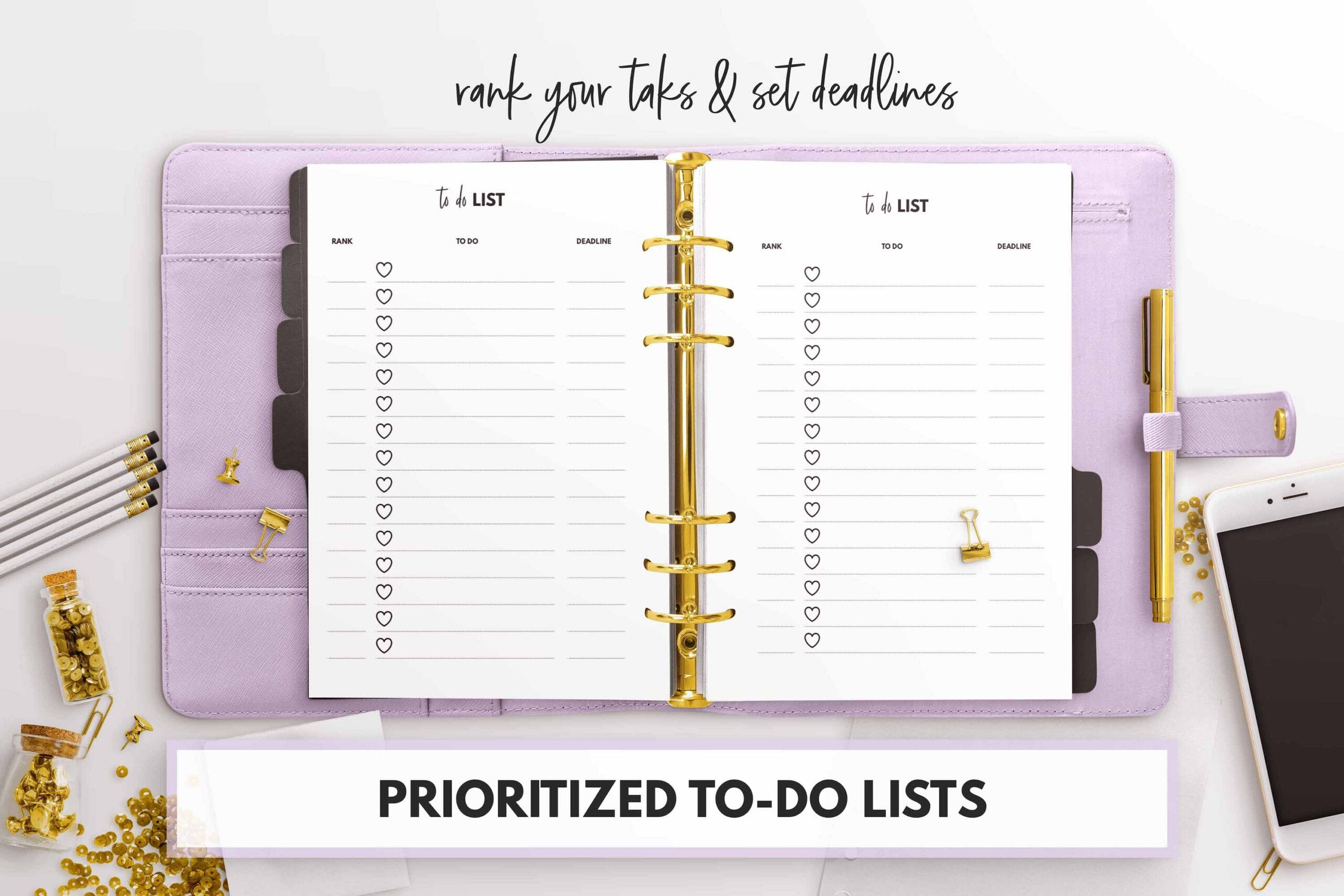 free prioritized to-do list printable