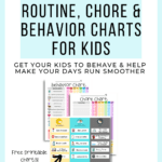 Free Editable Routine, Behavior & Chore Charts for Kids