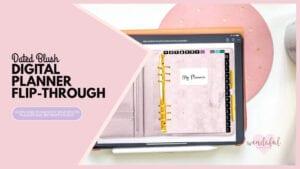 digital planner flip through