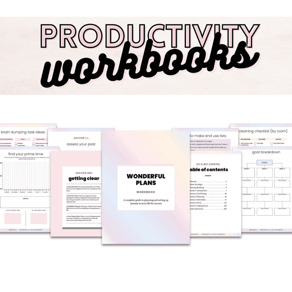 Productivity Workbooks