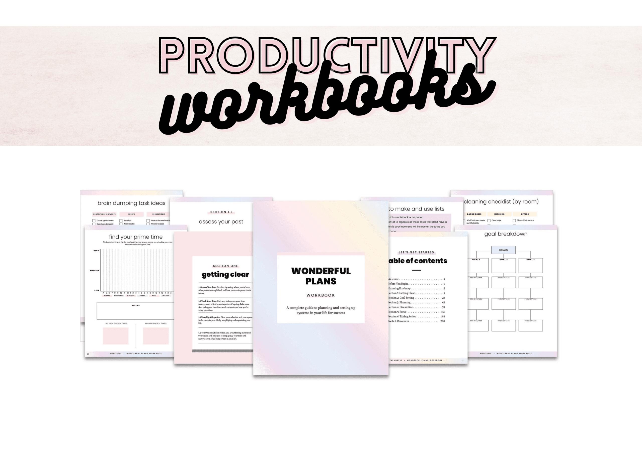 Productivity Workbooks