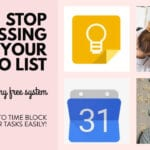 Time Blocking using Google Calendar & Google Keep with FREE Google Keep Headers
