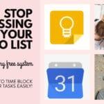 Time Blocking using Google Calendar & Google Keep with FREE Google Keep Headers