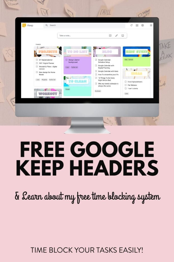 free google keep headers