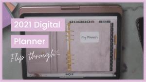 2021 digital planner flip through