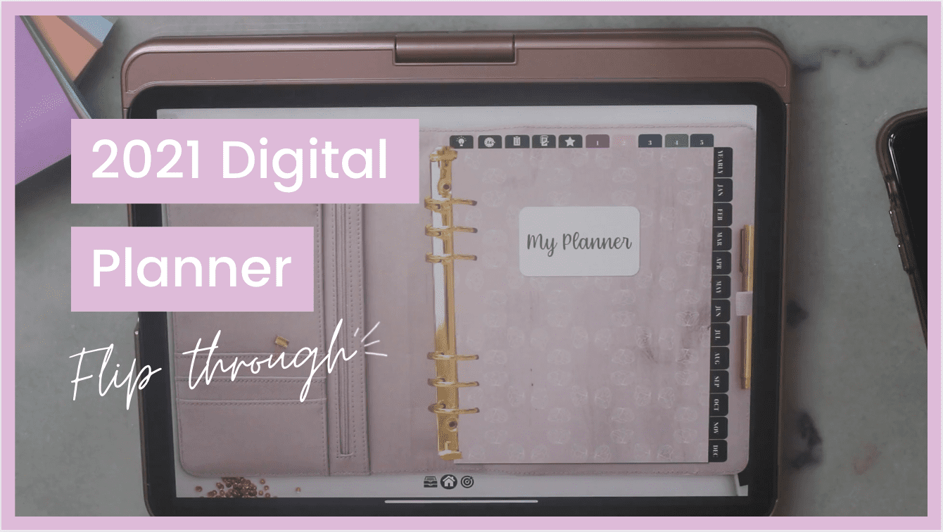 2021 digital planner flip through