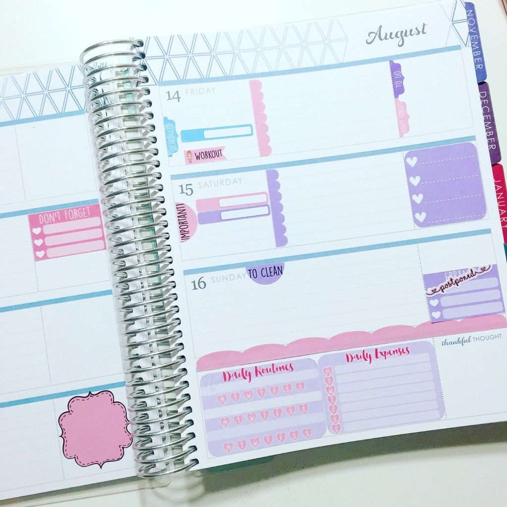 Erin Condren Horizontal Planner Stickers Wendaful